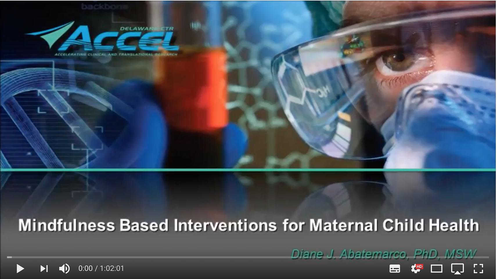 Filmtip: Mindfulness Based Interventions for Maternal Child Health